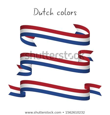 Netherlands Flag ribbon isolated. Dutch tape symbol national tap Stock photo © popaukropa