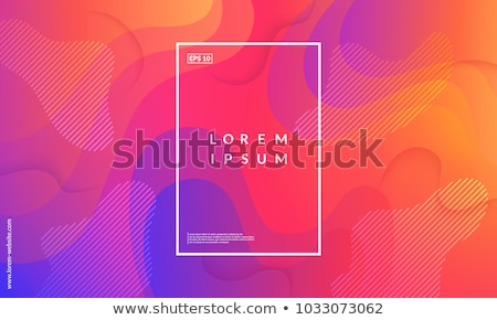 аннотация вектора набор фоны красочный волна Сток-фото © kostins