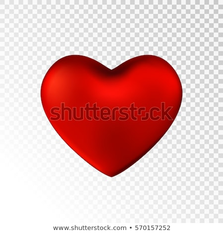 Beautiful red heart with shadow isolated icon stock photo © studioworkstock