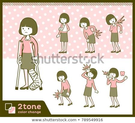 тип прямой волос блузка женщины здоровья Сток-фото © toyotoyo