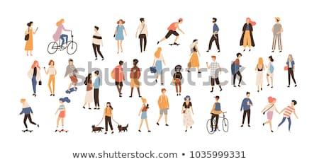 Stockfoto: Ingesteld · mensen · activiteit · illustratie · kinderen · fitness