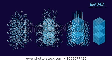 BIG DATA Machine Learning Algorithms. Analysis of Information Minimalistic Infographics Design. Scie Stock photo © olehsvetiukha