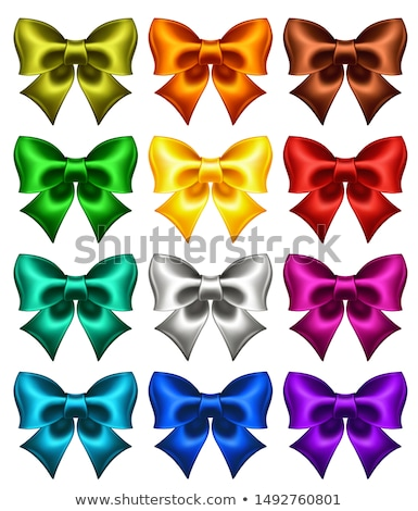 gift card voucher with red and blue bow ribbon black vector plastic card golden silver line design stock photo © iaroslava