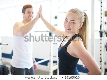 Boldog tornaterem férfi ünnepel kéz levegő Stock fotó © feedough