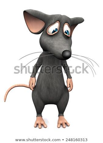 Sad Cartoon Mouse Stock photo © cthoman