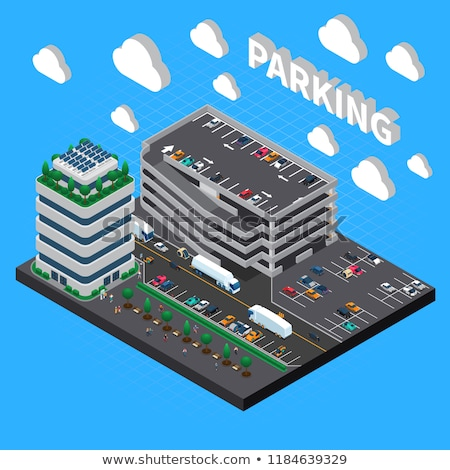 vector isometric multistorey car parking stock photo © tele52