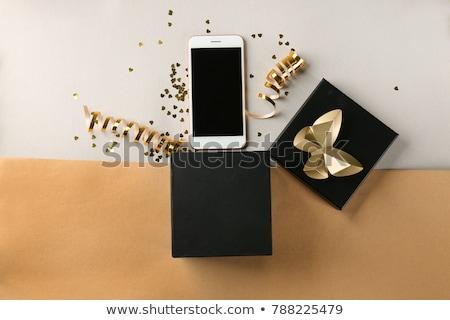smartphone and gift Stock photo © nito