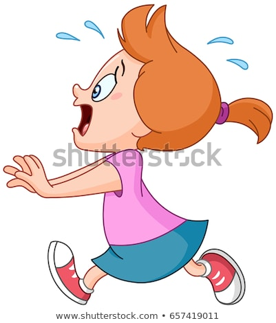 Rajz lány pánik illusztráció fut gyermek Stock fotó © cthoman