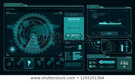 sziluett · illusztráció · nyomozó · nagyító · üveg · egész - stock fotó © rogistok