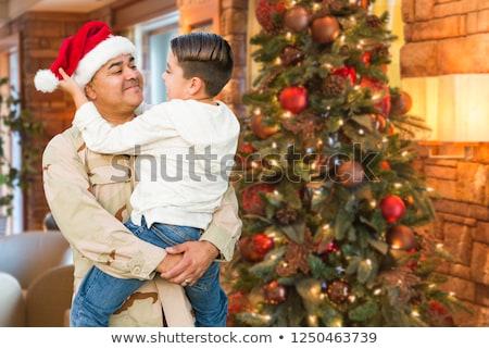 ヒスパニック 国軍 兵士 着用 サンタクロース 帽子 ストックフォト © feverpitch