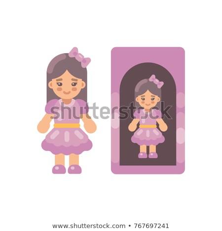 Cute кукла розовый платье окна икона Сток-фото © IvanDubovik