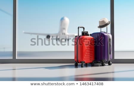 Stockfoto: Reizen · vakantie · camera · paspoort · schelpen · houten · tafel