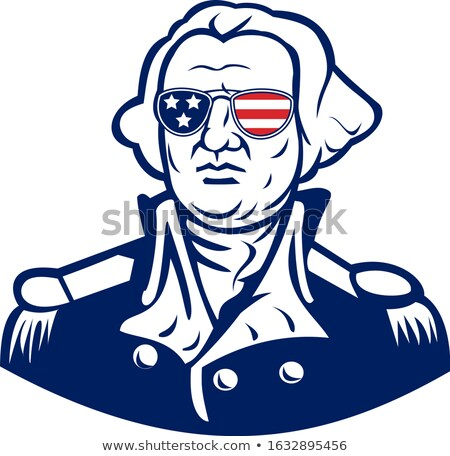 Washington mascotte icon illustratie hoofd amerikaanse Stockfoto © patrimonio