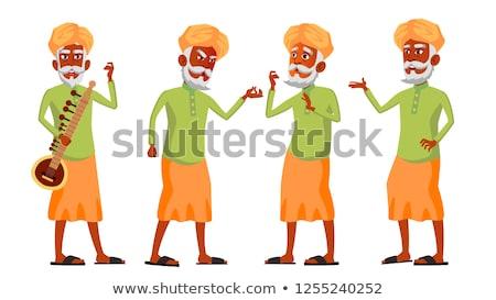 индийской старик набор вектора пожилого люди Сток-фото © pikepicture