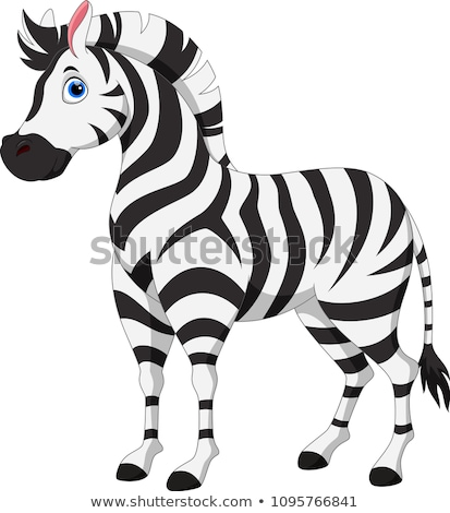 Cartoon zebra illustratie glimlachend gelukkig afrika Stockfoto © bennerdesign