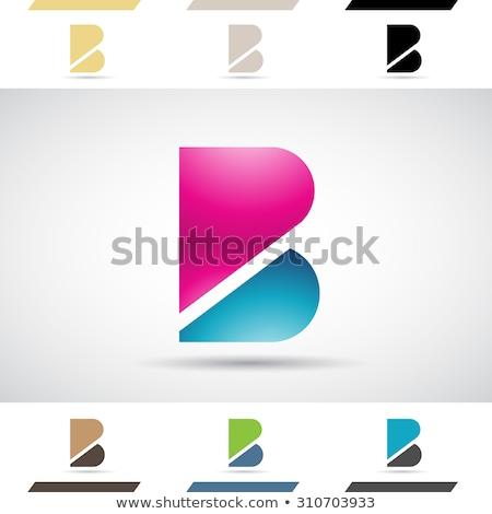 青 黒 ロゴ ロゴタイプ ベクトル 手紙 ストックフォト © blaskorizov