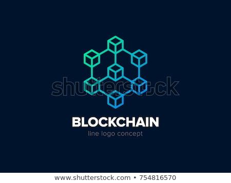 Blockchain Conference Icon Vector Illustration Stock photo © robuart