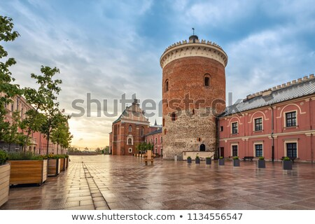 romanesque castle tower in lublin poland stock photo © boggy
