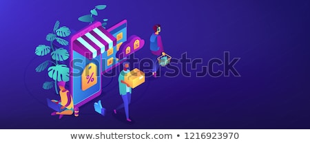 Discount online concept isometric 3D banner header. Stock photo © RAStudio