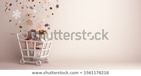 3d shopping 2020 cart trolley stock photo © ribah