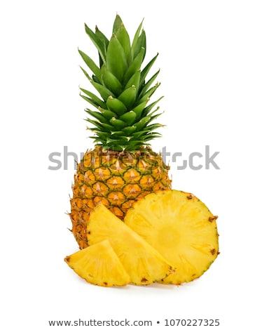 Ananas blanche réaliste tranches restaurant manger Photo stock © ConceptCafe
