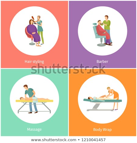 Haren massage masseur uniform vector Stockfoto © robuart