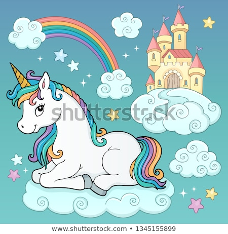 unicorn and objects theme image 3 stock photo © clairev