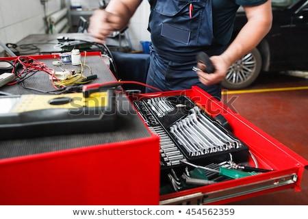 boîte · à · outils · marteau · tournevis · construction · boîte - photo stock © kzenon