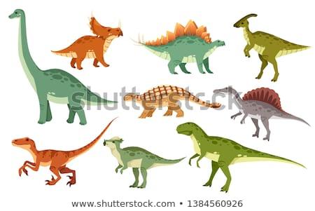 Flat dinosaur in nature Stock photo © colematt