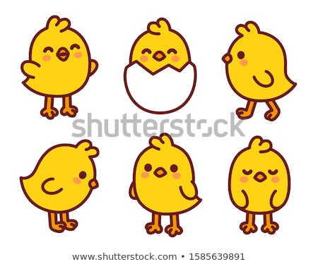 Chicken and chick character Stock photo © colematt