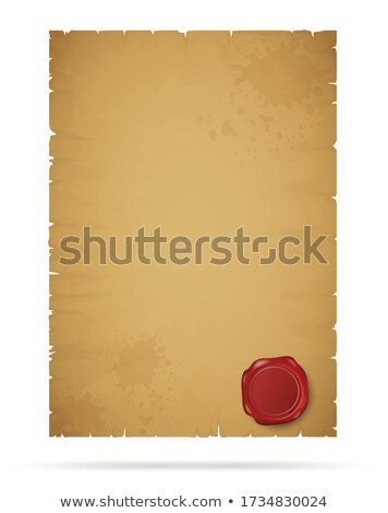 Empty Sheet of Ppaper with Signature and Page Stamp Zdjęcia stock © robuart