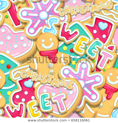 Christmas Seamless Pattern Socks, Candy, Lollipop Zdjęcia stock © robuart