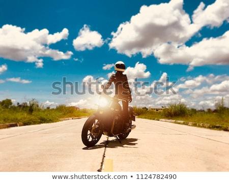 motor · deri · takım · elbise · adam · arka · plan - stok fotoğraf © cookelma