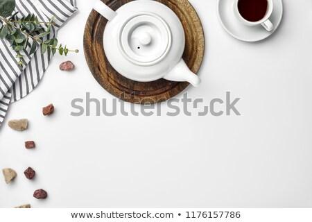 Tea pot with fresh tea Stock photo © BarbaraNeveu