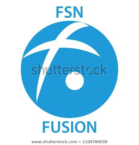 Fusão logotipo virtual moeda mercado emblema Foto stock © tashatuvango