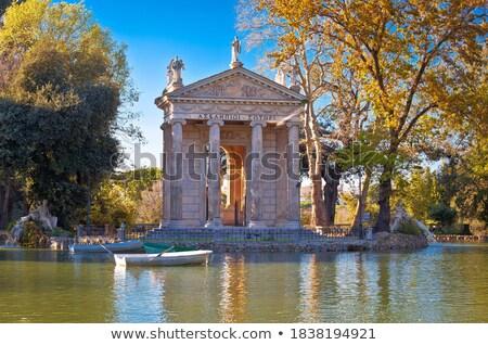 Photo stock: Lac · temple · Rome · printemps · bâtiment · paysage