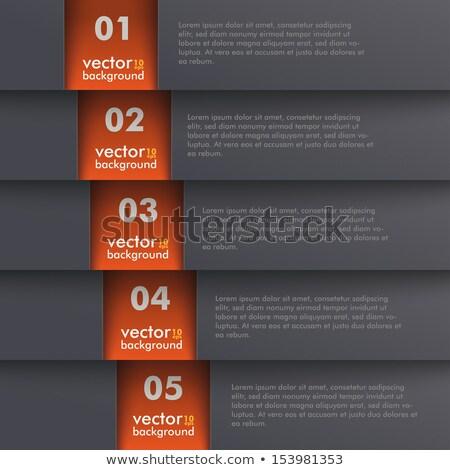 Modello design opzioni nero eps 10 Foto d'archivio © limbi007