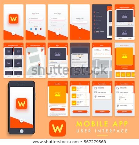 Marketing app interfaccia modello lavoro di squadra enorme Foto d'archivio © RAStudio