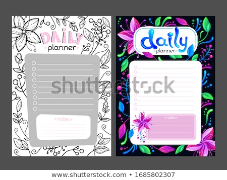 summer illustration with typography letter and tropical plants on white background vector holiday d stock photo © articular