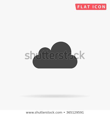 zwarte · wolk · zuurstof · icon · geïsoleerd · witte - stockfoto © kyryloff