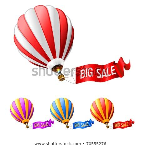 Duży sprzedaży kolorowy banner balonem nowoczesne Zdjęcia stock © marish