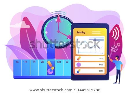cronometragem · clássico · escritório · relógio · verificar · lista - foto stock © rastudio