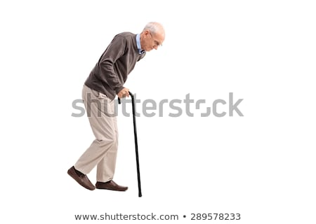 old man with a walking stick Stock photo © nito