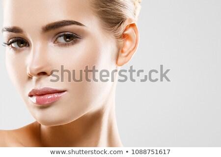 szépségszalon · nő · tökéletes · bőr · portré · gyönyörű - stock fotó © serdechny