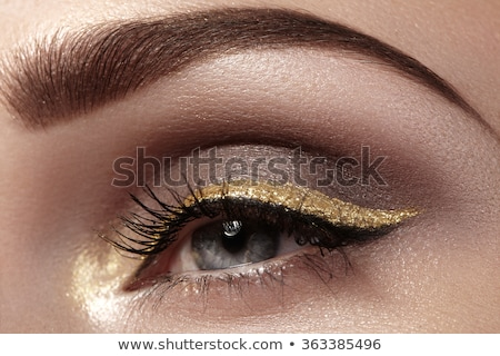Cosmetics and make-up. Closeup macro shot of fashion sparcle vis Stock photo © serdechny