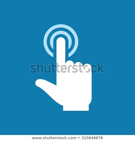 parmak · dokunmak · telefon · sosyal · medya · karanlık · gülümseme - stok fotoğraf © ra2studio