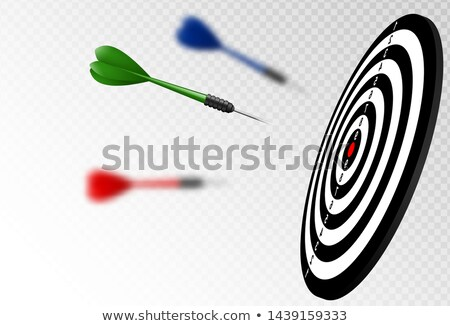 vector green dart arrows flying to target dartboard metaphor to target success winner concept stock photo © iaroslava