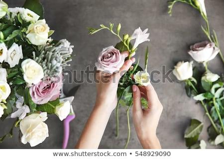 Making bouquet in flower shop Stock photo © pressmaster