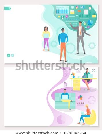 Projektu zarządzania pracy organizacja pracy Zdjęcia stock © robuart