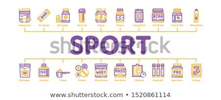 Sportu odżywianie minimalny banner wektora Zdjęcia stock © pikepicture